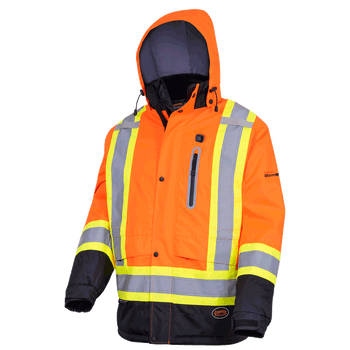 Hi-Viz Orange - 5407 Heated Insulated Safety Jacket - Safetywear.ca