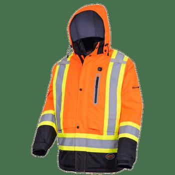 Pioneer 5407 Heated Insulated Safety Jacket - Hi-Viz Orange | Safetywear.ca