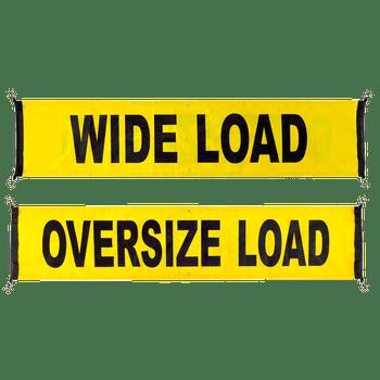 Oversize Load/Wide Load Reversible Truck Banner - OS | Safetywear.ca