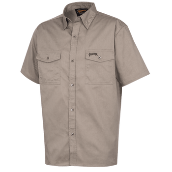 Khaki - 4405 Polyester/Cotton Short Sleeved Work Shirt | Safetywear.ca