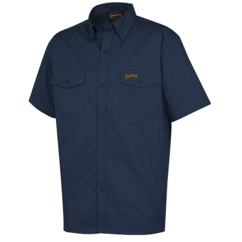 Navy - 4406 Polyester/Cotton Short Sleeved Work Shirt | Safetywear.ca