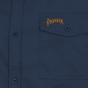 Navy - Logo, 4406 Polyester/Cotton Short Sleeved Work Shirt | Safetywear.ca