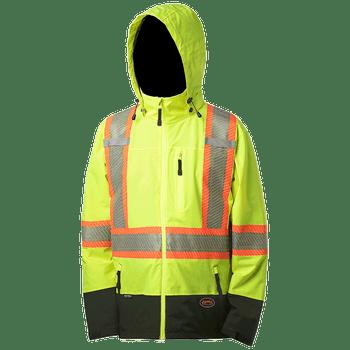 Hi-Viz Yellow - Softshell Waterproof/Breathable Premium Safety Jacket | Safetywear.ca
