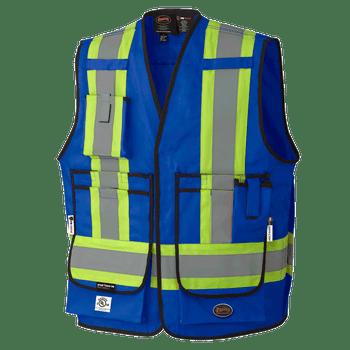 Pioneer 7733 FR-Tech® Flame Resistant Surveyor's Vest - Hi-Viz Royal Blue | Safetywar.ca