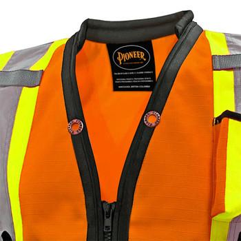 6676 1200D High Denier Surveyor's Vest - Hi-Viz Orange | Safetywear.ca