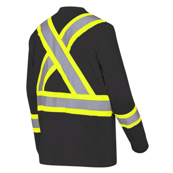 6983 Cotton Long Sleeved Safety Shirt - Black | Safetywear.ca