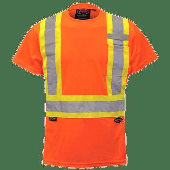 Pioneer 6948 Women's Birdseye Safety T-Shirt - Hi-Viz Orange | Safetywear.ca