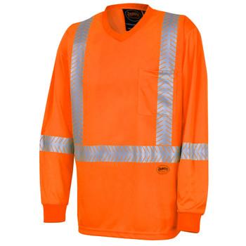 Pioneer 6904A UV Protection Coolpass® Long-Sleeve Safety Shirt - Hi-Viz Orange | Safetywear.ca