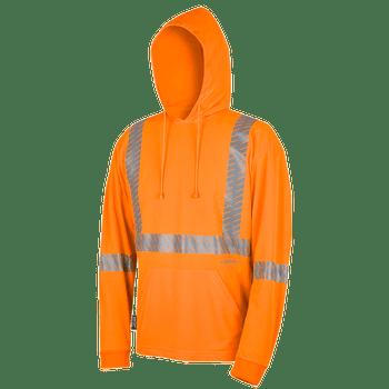 Pioneer 6964 Birdseye Safety hoodie Shirt - Hi-Viz Orange | Safetywear.ca