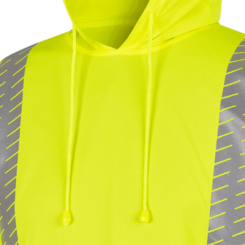 6965 Birdseye Safety Hoodie Shirt - Hi-Viz Yellow | Safetywear.ca