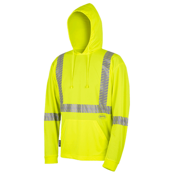 6965 Birdseye Safety Hoodie Shirt - Hi-Viz Yellow | Safetywear.ca