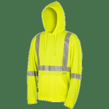 Pioneer 6965 Birdseye Safety Hoodie Shirt - Hi-Viz Yellow | Safetywear.ca