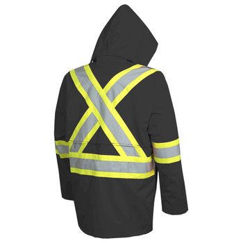 5628BK 300D Oxford Poly with PU Coating Jacket - Black | Safetywear.ca
