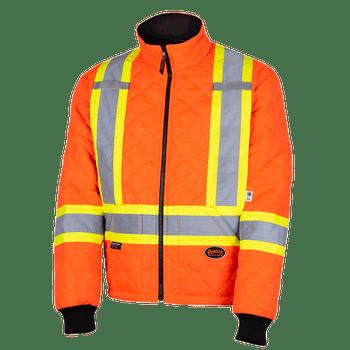 Pioneer 5015A Quilted Freezer/Work Safety Jacket - Hi-Viz Orange | Safetywear.ca