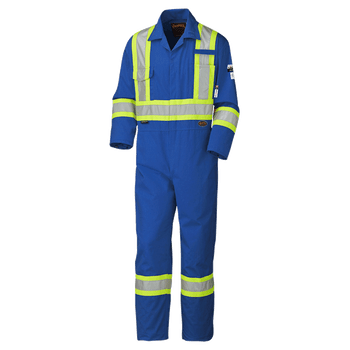 Pioneer 5552T Antistatic Flame-Gard Coverall - Royal Blue (Tall) | Safetywear.ca