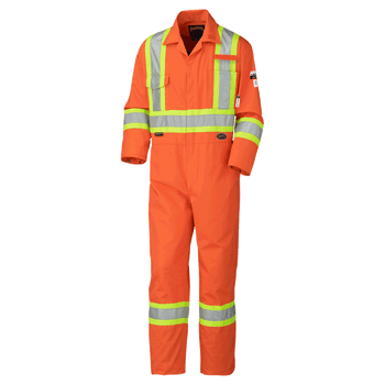 Pioneer 5551 Antistatic Flame Gard Coverall - Hi-Viz Orange | Safetywear.ca