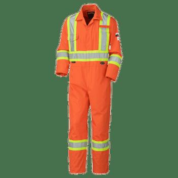 Pioneer 5551T Antistatic Flame Gard Coverall - Hi-Viz Orange (Tall) | Safetywear.ca