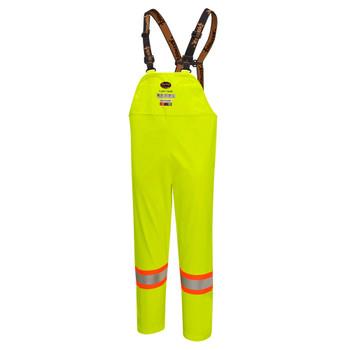 Pioneer 5883 Flame Resistant/ARC Rated Waterproof Bib Pants - Hi-Viz Yellow/Green | Safetywear.ca