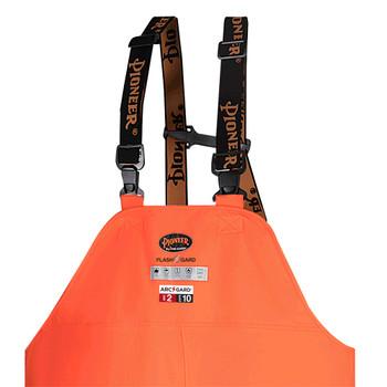 5882 Arc Pu/Cotton Bib Rain Pants - Hi-Viz Orange | Safetywear.ca