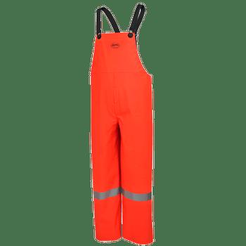 Pioneer 576P PVC/Poly/ Flame Resistant Bib Pants - Hi-Viz Orange | Safetywear.ca