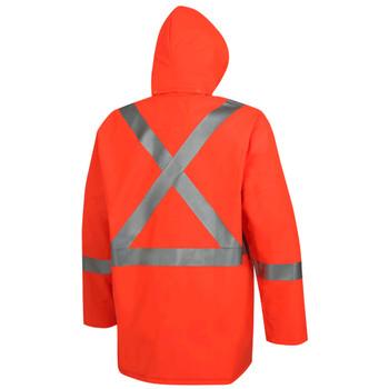 Pioneer 576J Flame Resistant Waterproof Rain Jacket - Hi-Viz Orange | Safetywear.ca