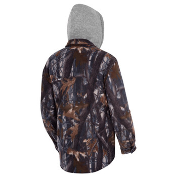 415CM Camo Plaid Quilted Hooded Polar Fleece Shirt | Safetywear.ca