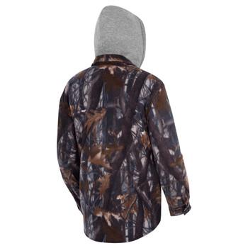 Pioneer 415CM Camo Plaid Quilted Hooded Polar Fleece Shirt | Safetywear.ca