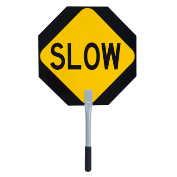"4561 Red/Yellow Traffic ""Stop/Slow"" Paddle - 18"" 