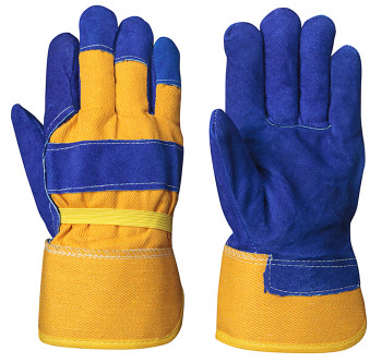 Blue/Yellow 655 Insulated Fitter's Cowsplit Glove