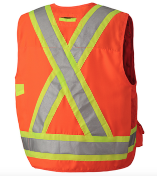 Pioneer 6692 Surveyor's Safety Vest - Hi-Viz Orange | Safetywear.ca
