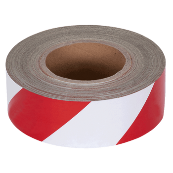 Pioneer Reflective, Durable Adhesive Hazard Warning, Stick-On Tape - Red/ White | Safetywear.ca