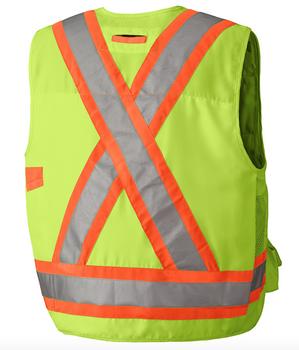 Yellow/Green Hi-Viz Surveyor's Safety Vest