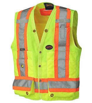 Pioneer 6693 Surveyor's Safety Vest - Hi-Viz Yellow/Green   Safetywear.ca