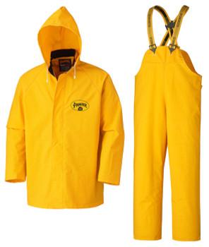 Pioneer 571 Flame Resistant Waterproof Heavy Duty 3-Piece Rainsuits - Yellow | Safetywear.ca