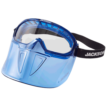 Jackson GPL500 Series Premium Safety Goggle with Detachable Flip-UP/Flip-Down Face Shield - Blue | Safetywear.ca