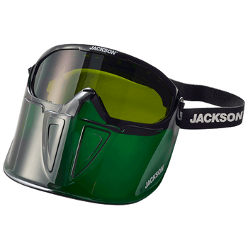 Jackson GPL500 Series Premium Safety Goggle with Detachable Flip-UP/Flip-Down Face Shield - Green | Safetywear.ca