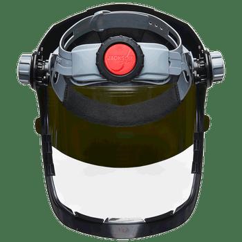 Jackson Quad 500® Series - 370 Speed Dial™ Ratcheting Headgear - Clear Tint - Anti-Fog Coating-Black | Safetywear.ca