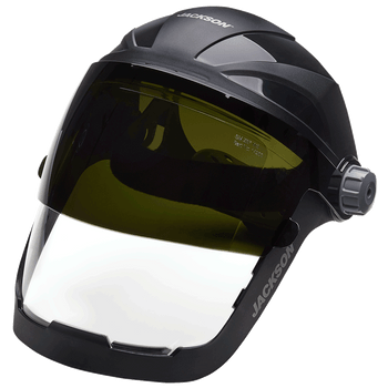 Jackson Quad 500® Series - 370 Speed Dial™ Ratcheting Headgear - Shade 8 Flip-Up Window | Safetywear.ca