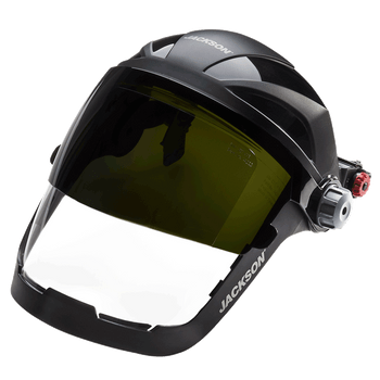 Jackson Quad 500® Series - 370 Speed Dial™ - Shade 8 Flip-Up Window and HHIS Universal Hard Hat Slot Adaptor | Safetywear.ca