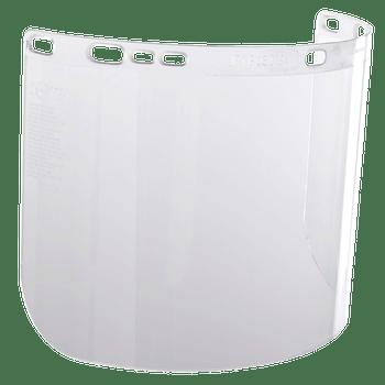 "Jackson F20 Polycarbonate Face Shields - 8""x15.5""x0.06"" - (Moulded) - Clear"