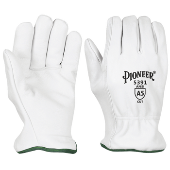 Pioneer Level A5 Cut Resistant Driver's Style Goatskin Gloves | Safetywear.ca