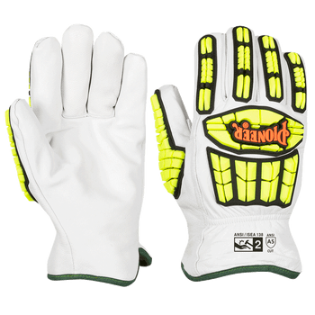 Pioneer Level A5 & Cut & Puncture Resistant Driver's Style Goatskin Gloves - TPR | Safetywear.ca