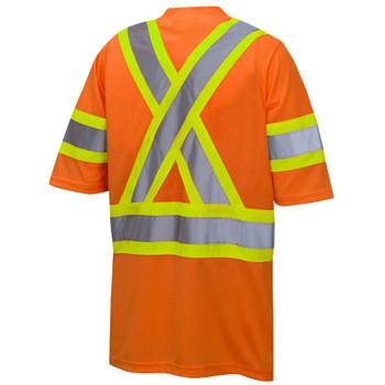 Pioneer 6970 Birdseye Safety T-shirts with Tape on Sleeves - Hi-Viz Orange | Safetywear.ca