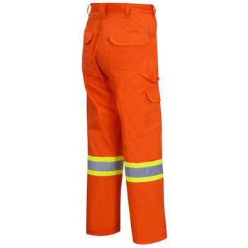 Pioneer 4462 100% Cotton Safety Cargo Pants with Startech® Tape - Hi-Viz Orange | Safetywear.ca