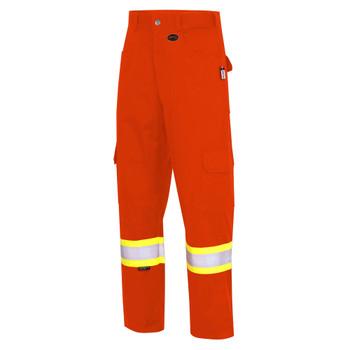 Pioneer 7765 FR-Tech® Flame Resistant Safety Cargo Pants with Startech® Tape - Hi-Viz Orange | Safetywear.ca
