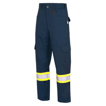 Pioneer 7764 FR-Tech® Flame Resistant Safety Cargo Pants with Strtech® Tape - Navy | Safetywear.ca