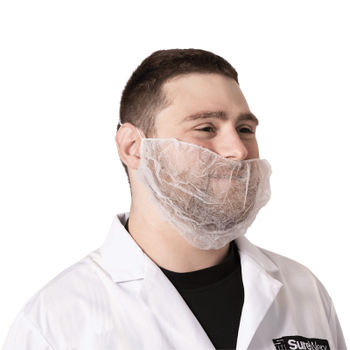 Pioneer 2024 Disposable Beard Mask - White | Safetywear.ca
