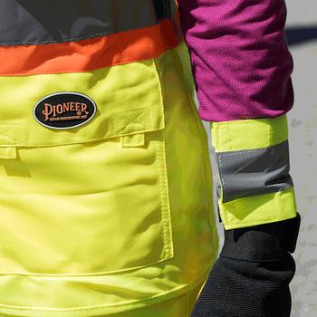 Pioneer 141A Adjustable Reflective Arm Bands - Hi-Viz Yellow/Green (Pair) | Safetywear.ca