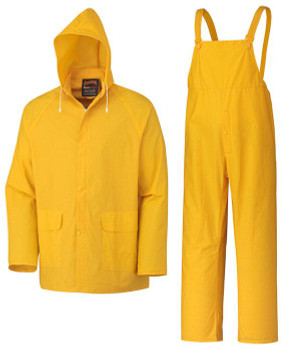 Yellow 577 Supported PVC 3-Piece Rain Suit