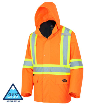 Pioneer 5632 Safety Rainwear / Parkas (300D) - Hi-Viz Orange | Safetywear.ca